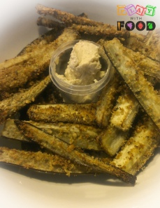 Eggplant Chips served with Hummus